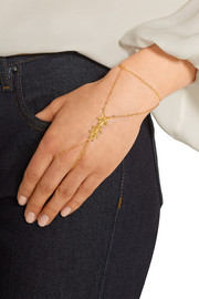 Stardust gold-plated finger bracelet