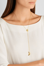 Galaxy Lariat gold-plated necklace