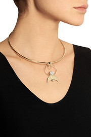 Cosmos gold-plated moonstone choker