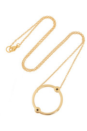 Orbit gold-plated spinel necklace