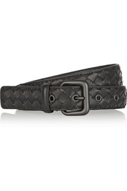 Intrecciato leather belt