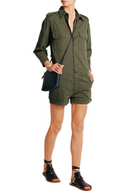 Officer's cotton-twill playsuit