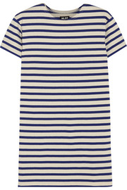 True striped cotton-jersey mini dress
