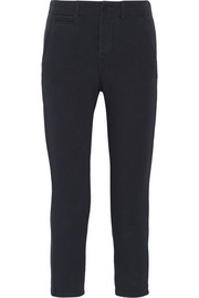 Cropped cotton-jersey slim-fit pants
