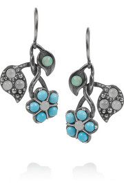 Orecchini sterling silver multi-stone earrings