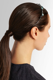 Tiara oxidized sterling silver multi-stone headband