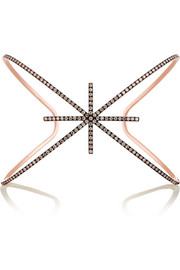 Starburst 18-karat rose gold diamond cuff