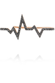Diane Kordas Heartbeat 18-karat rose gold diamond ear cuff