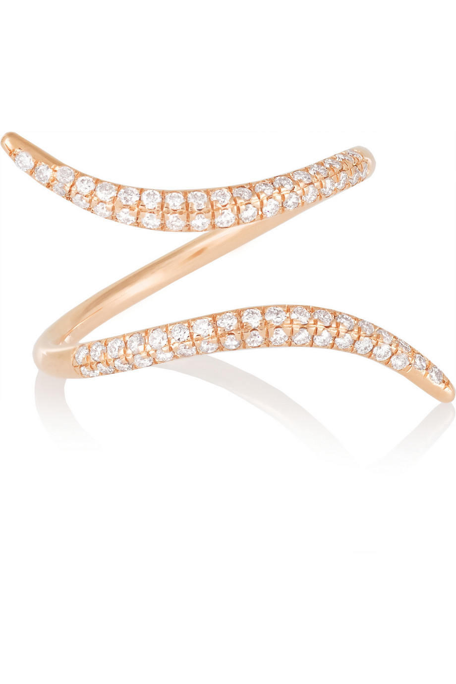 Diane Kordas 18-Karat Rose Gold Diamond Ring, Women's, Size: 54