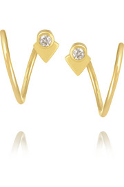 La Verne Twirl 18-karat gold diamond earrings