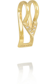 Brooks 18-karat gold diamond ear cuff