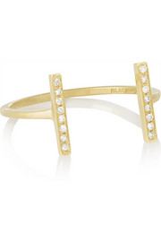 Revier 18-karat gold diamond ring