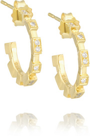 Garbo 18-karat gold diamond hoop earrings