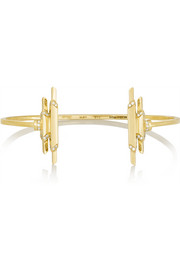 Fay Wray 18-karat gold diamond cuff