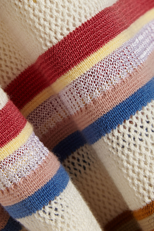Chloé Striped cotton-blend sweater