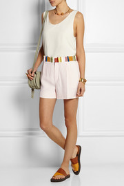 Grosgrain-trimmed cady shorts