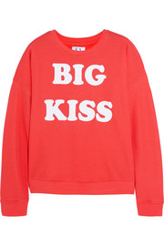 Big Kiss cotton-blend terry sweatshirt