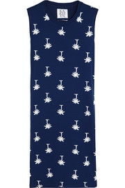 Printed stretch-jersey mini dress