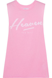 Heaven Can Wait printed cotton and modal-blend tank