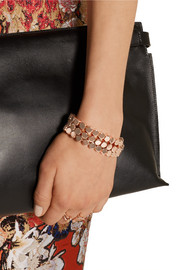 Cylinder rose gold-plated bracelet