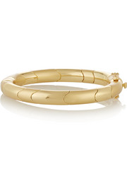 Circle Prism gold-plated bangle