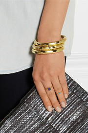 Eddie Borgo Circle Prism gold-plated bangle