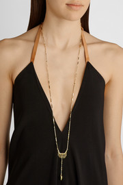 Eddie Borgo Totem Pendulum gold-plated necklace