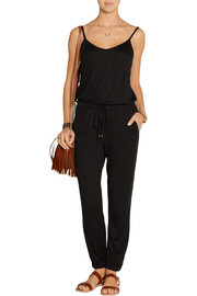 Micro Modal-blend jersey jumpsuit