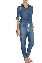 Wilder washed-chambray jumpsuit