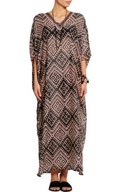 Temperley London Printed cotton and silk-blend kaftan