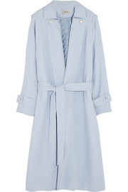 Oscar crepe trench coat