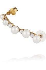 Pearly Queen gold-plated faux pearl earring