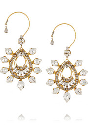 Hung Up gold-plated Swarovski crystal earrings