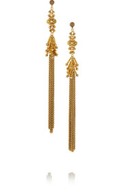 Erickson Beamon Hung Up gold-plated Swarovski crystal earrings