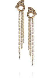 Erickson Beamon Heart of Gold gold-plated Swarovski crystal earrings