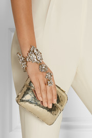Erickson Beamon Hung Up gold-plated Swarovski crystal finger bracelet
