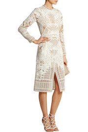 Henrike guipure lace midi dress