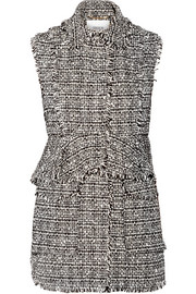 Dorina convertible cotton-blend tweed vest