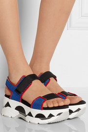 Marni Mesh, leather and rubber platform sandals