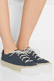 Tory Burch Canvas platform espadrille sneakers