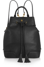 Frances textured-leather backpack