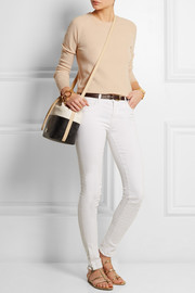 Tory Burch Tri-tone leather bucket bag