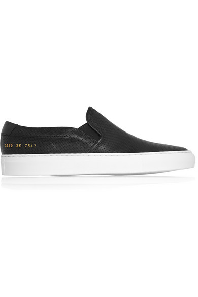 Sale alerts for Common Projects Perforated leather slip-on sneakers - Covvet