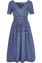 Saira printed denim dress