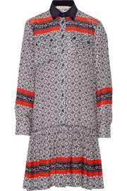 Assia printed crepe shirt dress