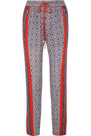 Atlas printed cady tapered pants