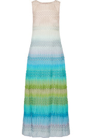 Crochet-knit maxi dress