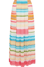 Missoni Striped crochet-knit maxi skirt