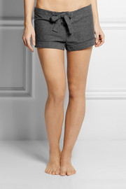 Bodas Montana cotton-fleece pajama shorts