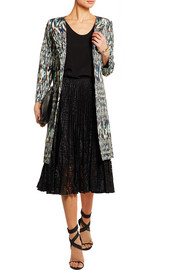 Matthew Williamson Printed satin-twill coat